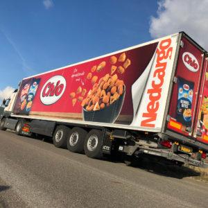 Reclamebureau Truckstyling Truckwrapping Chio Chips Fullcolor Oplegger Printing Signing Ede Bunschoten-Spakenburg vrachtwagenreclame