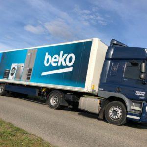 Fullcolor reclameopdruk truckstyling DAF oplegger design vrachtwagen bedrukking truckwrapping reclamebureau Ede Bunschoten-Spakenburg vrachtwagenreclame