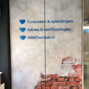 merkbeleving inrichting airtex fotobehang belettering interieur ontwerp reclame reclamebureau ede bunschoten spakenburg